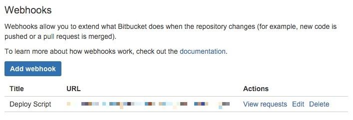 BitBucket Web hook Details