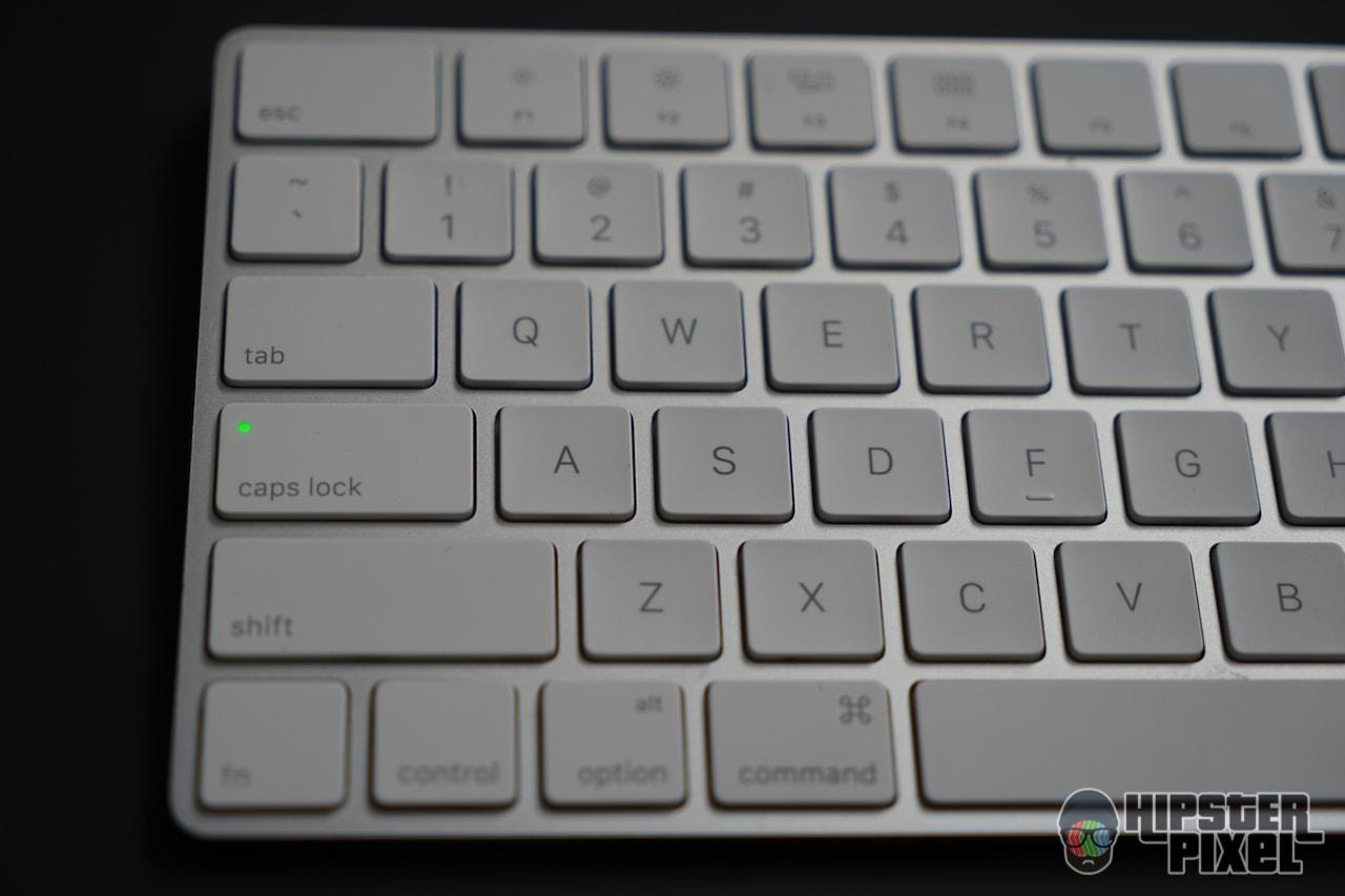 Apple Magic Keyboard, with Caps Lock ON