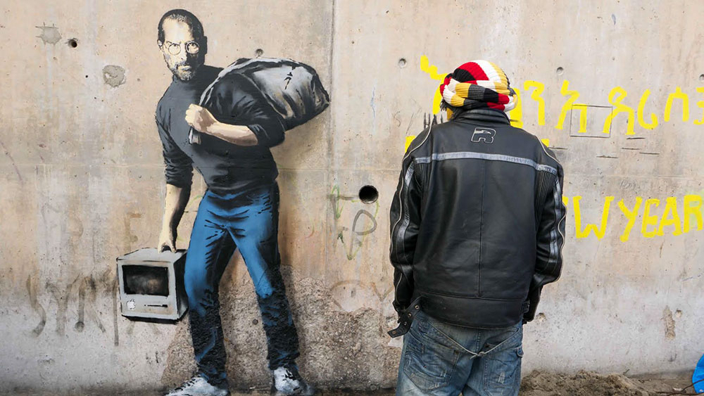 Banksy Reminds Us That Steve Jobs Was the Son of a Syrian Migrant