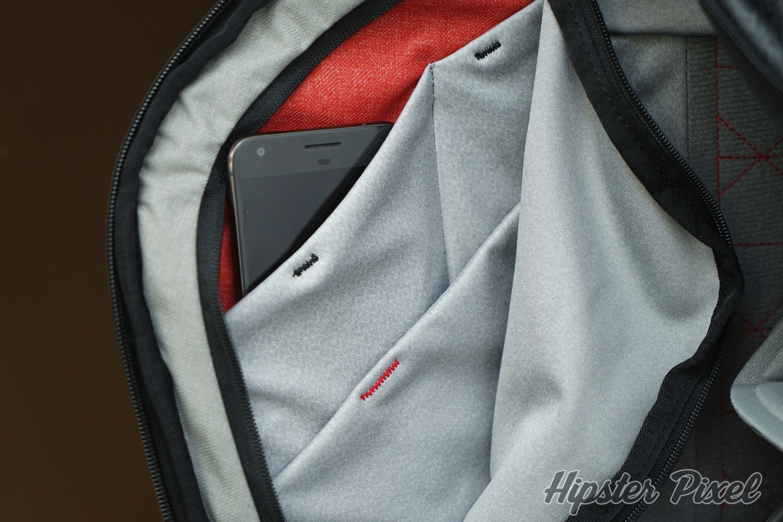 Everyday Backpack Inside the Side Pocket