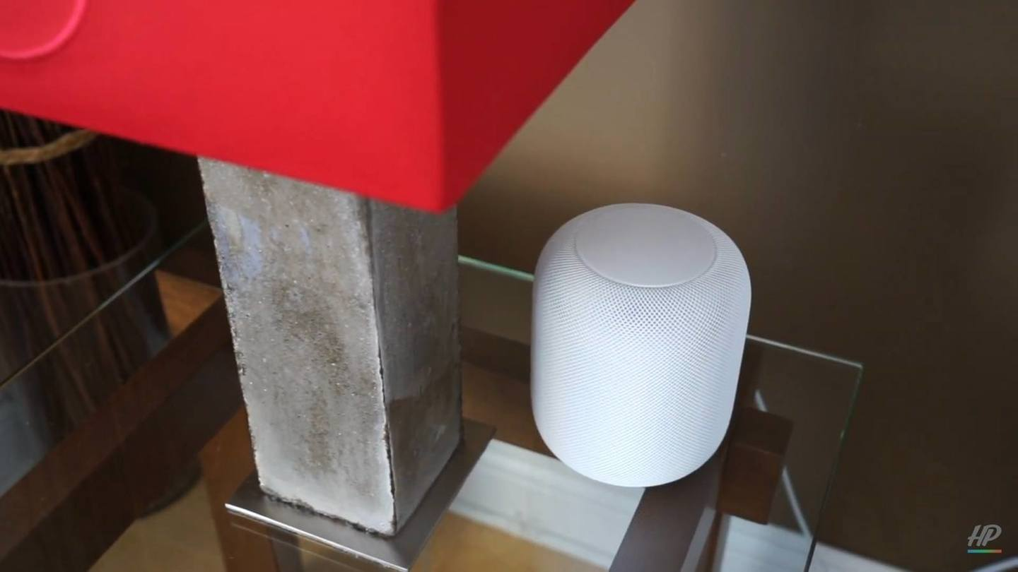 HomePod on a table