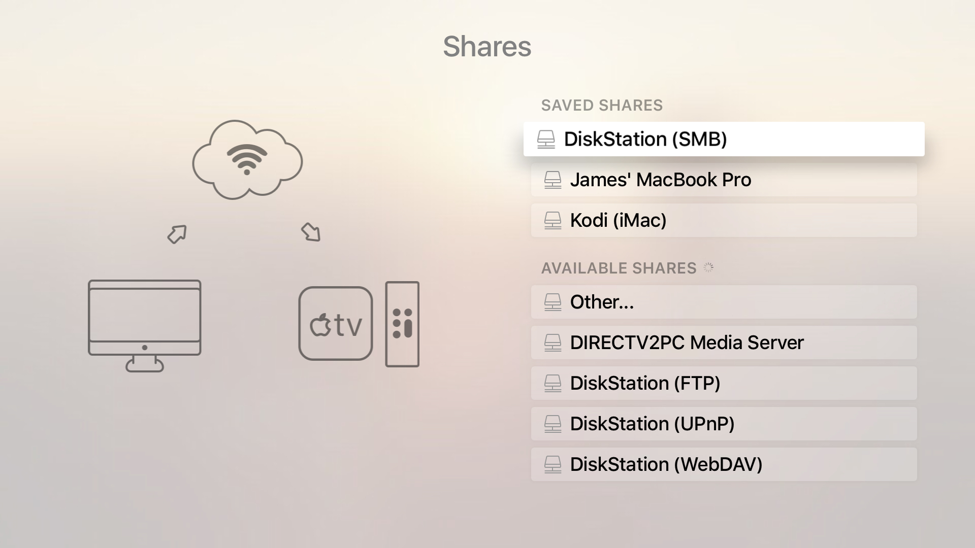 Shares on Infuse 4 on Apple TV