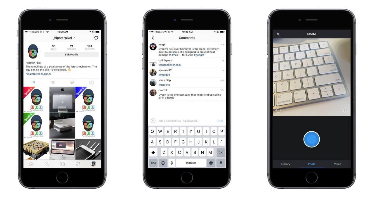 New 2016 Instagram Design