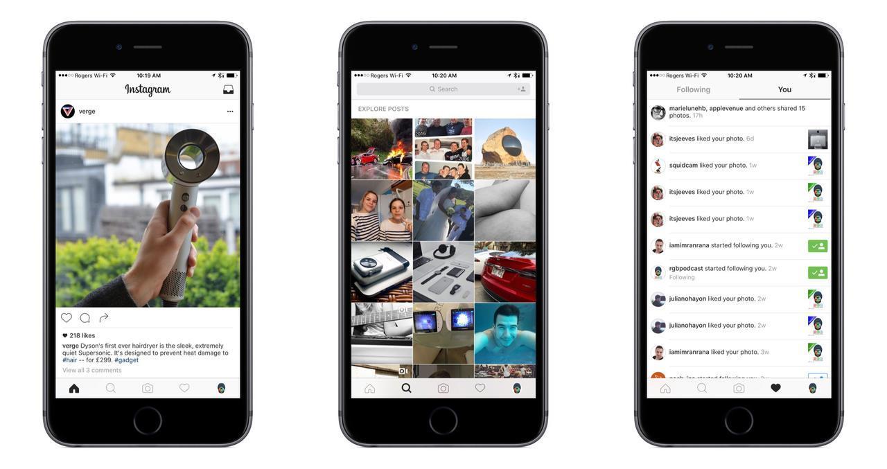 Instagram Rolls Out New Modern Design