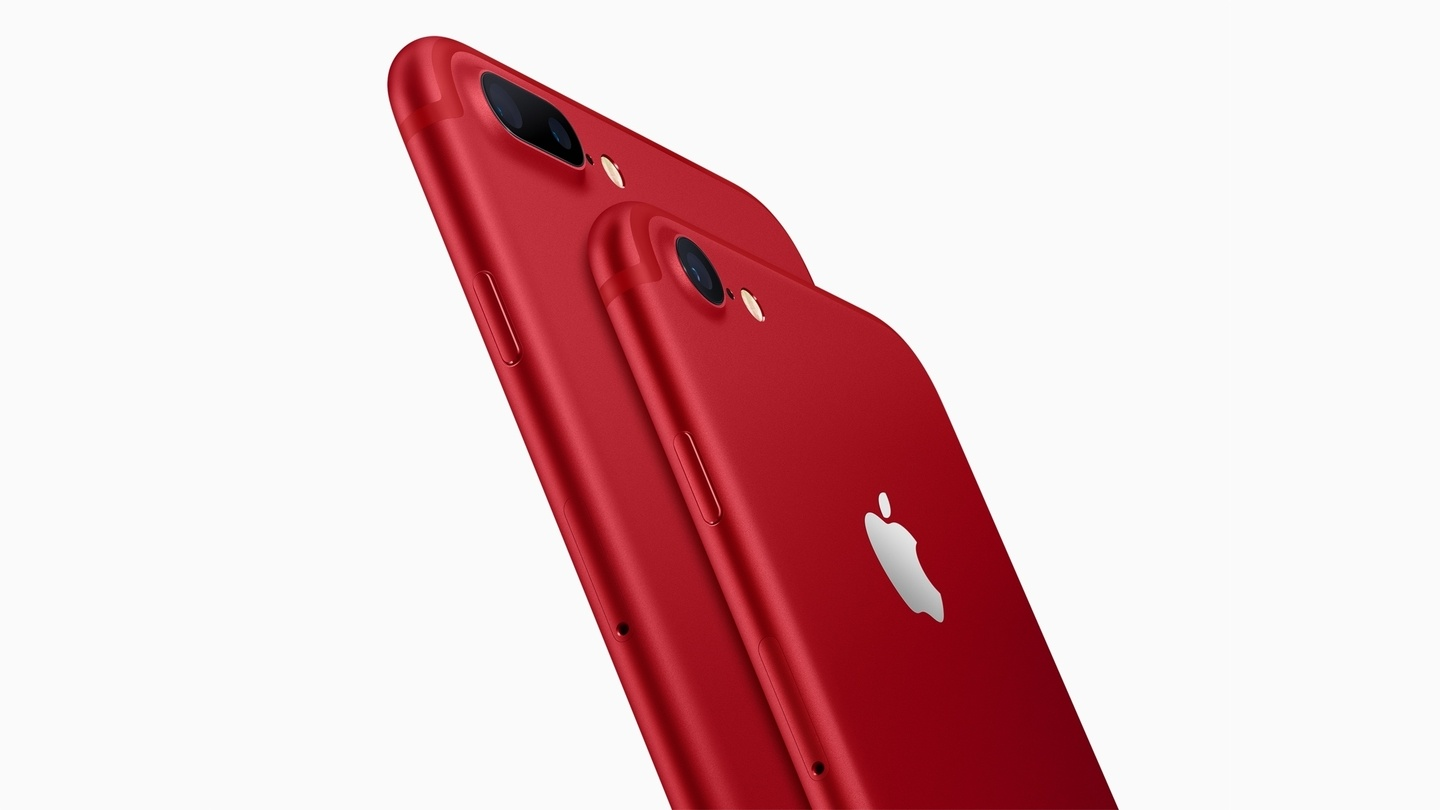 Apple Launches (PRODUCT)RED iPhone 7 and 7 Plus, Updates iPhone SE Capacity