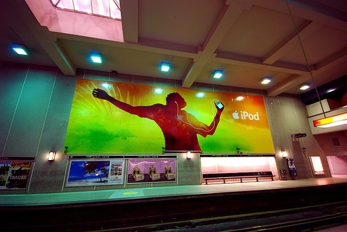 iPod ad in Montreal Subway
