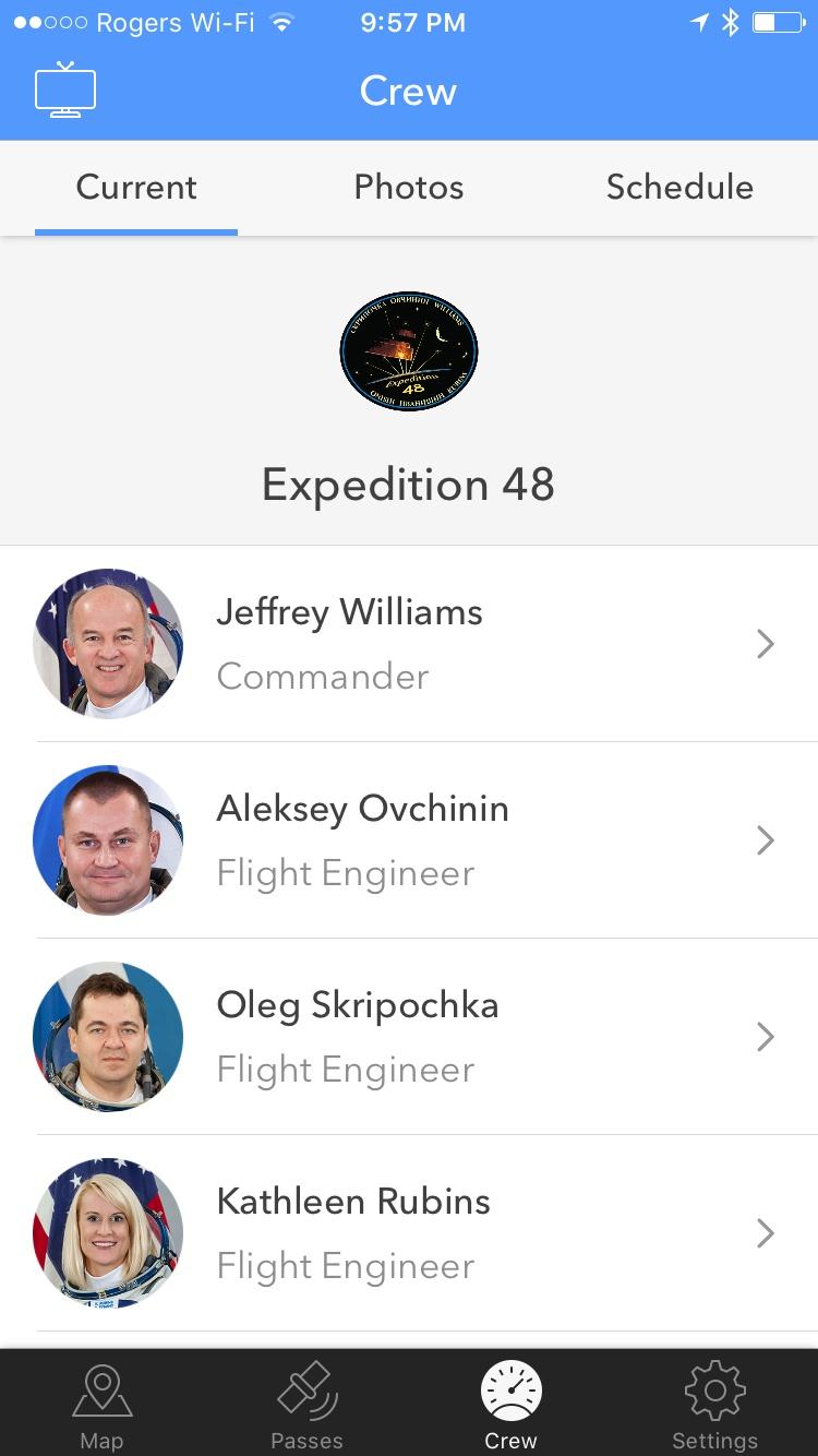 ISS Finder crew