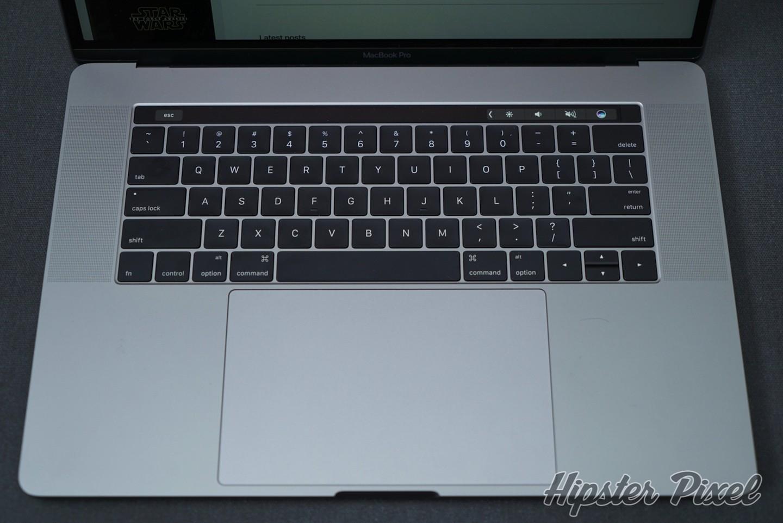 Keyboard of the MacBook Pro