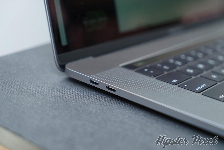 Thunderbolt 3 port of the MacBook Pro