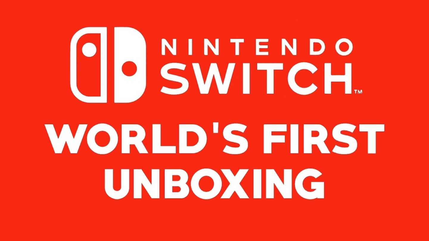 World's First Nintendo Switch Unboxing!