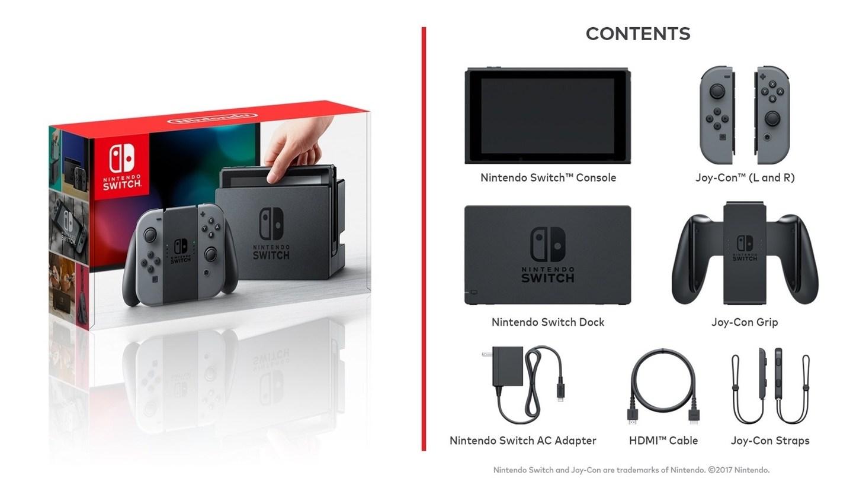 Nintendo Switch Box Content