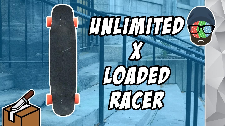 Unlimited x Loaded Race Electric Skateboard Unboxing