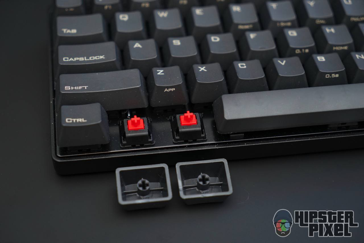 Pok3r with Cherry MX Red Key Switches