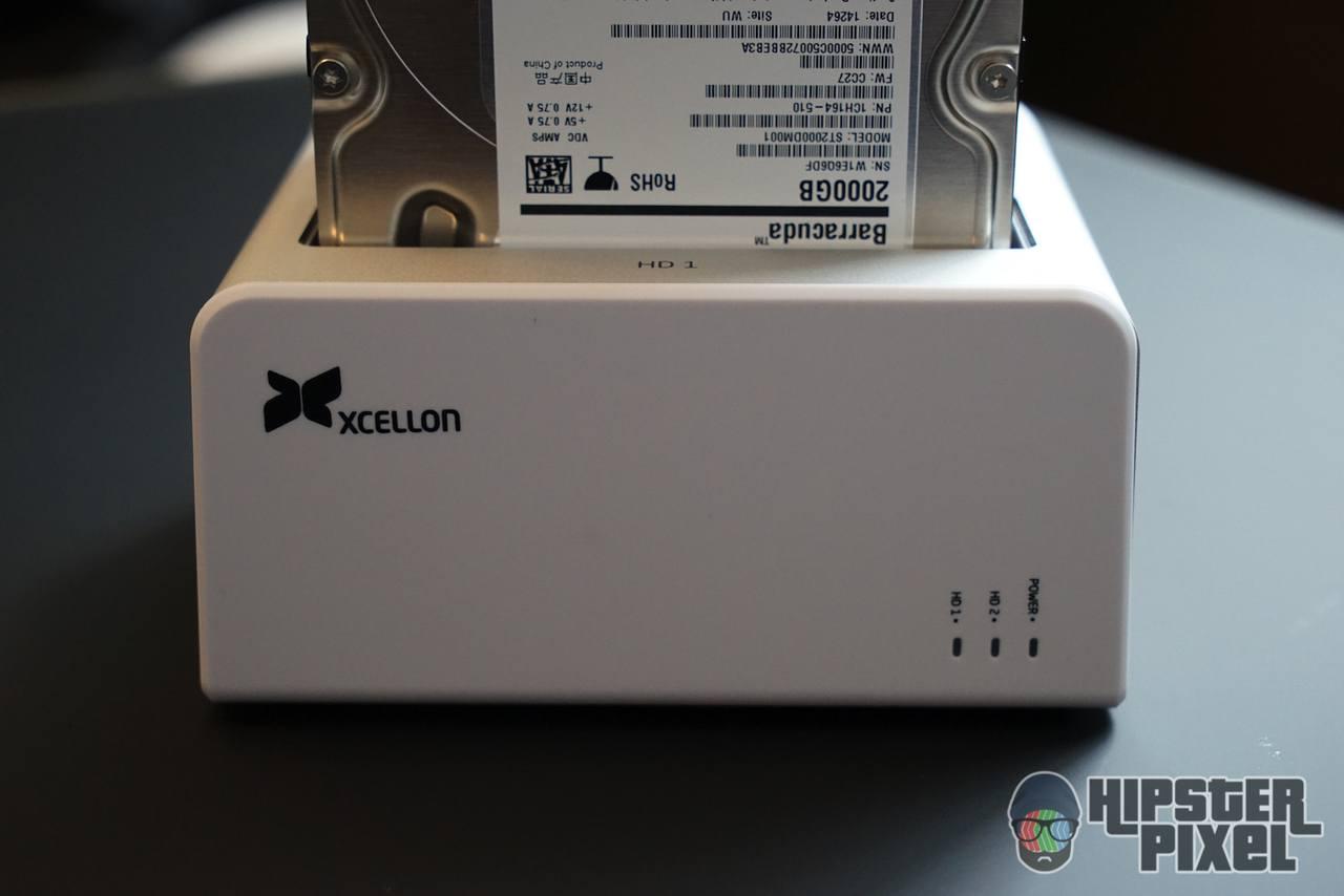 Xcellon 2-bays USB-C HDD Dock