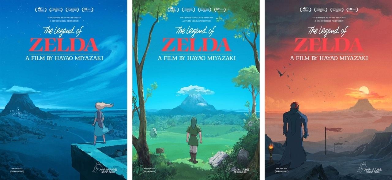 Zelda + Ghibli Movie Posters